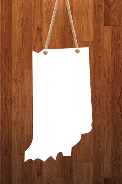 Indiana State - 3 different sizes use drop down bar -  Sublimation Blank MDF Single & Double Sided