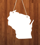 Wisconsin State - 3 different sizes use drop down bar -  Sublimation Blank MDF Single & Double Sided