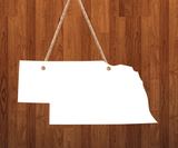Nebraska State - 3 different sizes use drop down bar -  Sublimation Blank MDF Single & Double Sided