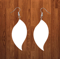 Swirl drop earrings size 2 inch - BULK PURCHASE 10pair