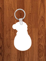 Snowman with beanie Keychain - Single sided or double sided  -  Sublimation Blank