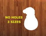 Snowman with beanie WITHOUT holes - Wall Hanger - 3 sizes to choose from -  Sublimation Blank  - 1 sided  or 2 sided options