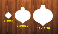 Tear drop ornament with hole - Wall Hanger - 3 sizes to choose from -  Sublimation Blank  - 1 sided  or 2 sided options