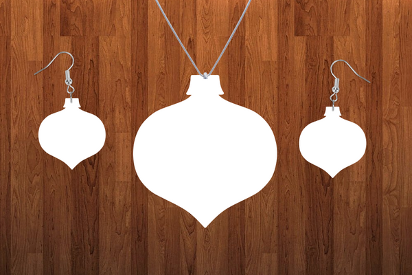 Bulb drop ornament necklace sets- you get 10 sets - BULK PURCHASE 10pair earrings and 10pc necklace