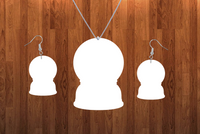 Snowglobe necklace sets- you get 10 sets - BULK PURCHASE 10pair earrings and 10pc necklace