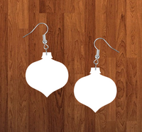 Bulb drop ornament earrings size 2 inch - BULK PURCHASE 10pair