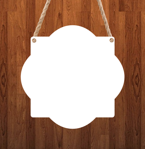 Quatrefoil Door - Wall Hanger - 3 sizes to choose from -  Sublimation Blank  - 1 sided  or 2 sided options
