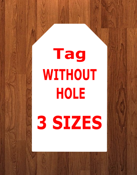 Tag WITHOUT hole - Wall Hanger - 3 sizes to choose from -  Sublimation Blank  - 1 sided  or 2 sided options