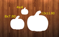 Pumpkin without holes - Wall Hanger - 3 sizes to choose from -  Sublimation Blank  - 1 sided  or 2 sided options