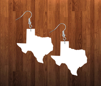 Texas earrings size 2 inch - BULK PURCHASE 10pair