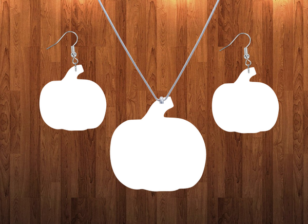 Pumpkin necklace sets- you get 10 sets - BULK PURCHASE 10pair earrings and 10pc necklace