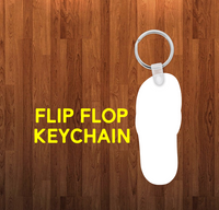 Flip flop Keychain - Single sided or double sided  -  Sublimation Blank