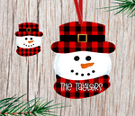 (Instant Print) Digital Download - Buffalo plaid snowman head