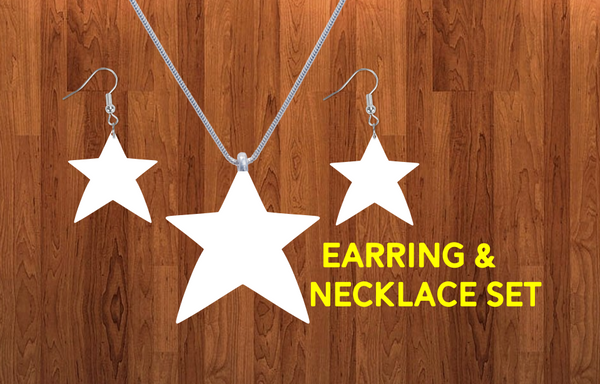 Star Earring and necklace sets- you get 10 sets - BULK PURCHASE 10pair earrings and 10pc necklace