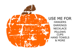 (Instant Print) Digital Download - Grunge Pumpkin