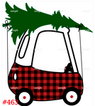 Sublimation print - Plaid Car With Tree #463