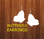 Butterfly earrings size 2.5 inch - BULK PURCHASE 10pair