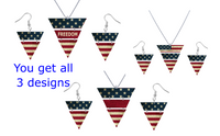 (Instant Print) Digital Download -  Flag bundle set for the triangle necklace and earrings  - Made for our MDF blanks