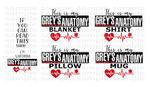 (Instant Print) Digital Download - Grey's Anatomy 5pc bundle set