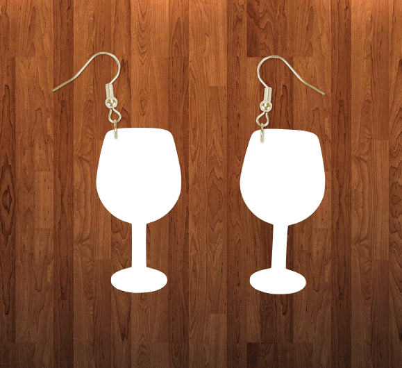 Wine glass earrings size 2.5 inch - BULK PURCHASE 10pair