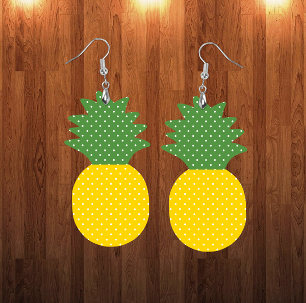(Instant Print) Digital Download - Pineapple polka dot - for earrings or door hanger - Made for out MDF blanks