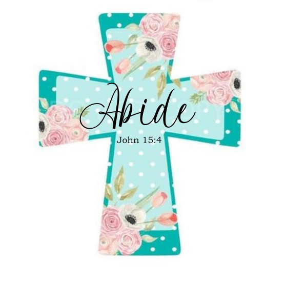 Sublimation print - Abide cross - Made for our MDF sublimation blanks