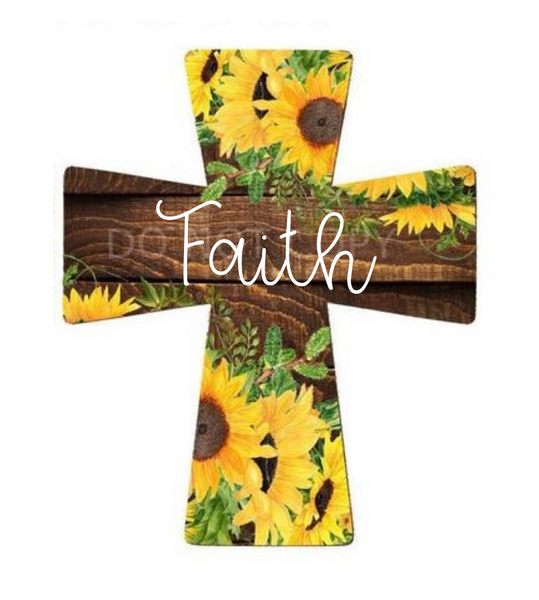 Sublimation print - Faith cross- Made for our MDF sublimation blanks