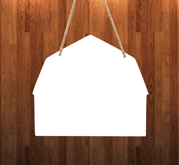 Barn - With holes - Wall Hanger - 3 sizes to choose from -  Sublimation Blank  - 1 sided  or 2 sided options