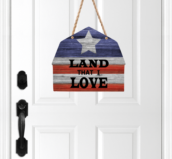 (Instant Print) Digital Download - Land that I love barn - Made for out MDF blanks
