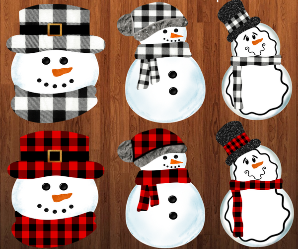 (Instant Print) Digital Download - Snowman bundle 6pc