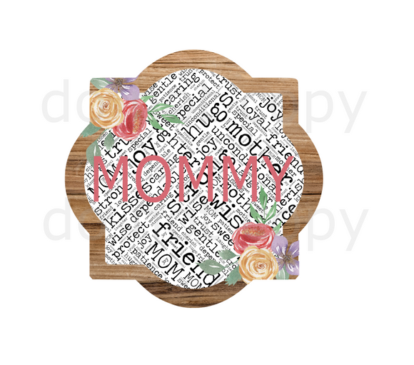 (Instant Print) Digital Download - Mommy quarterfoil