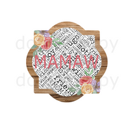 (Instant Print) Digital Download - Mamaw quarterfoil