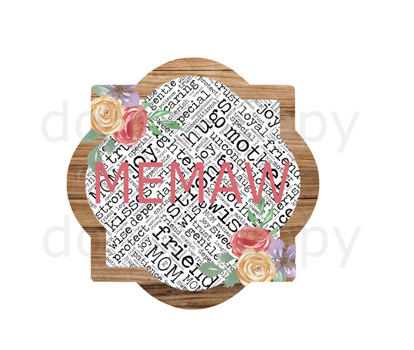 (Instant Print) Digital Download - Memaw quarterfoil