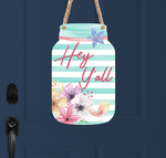 (Instant Print) Digital Download - Hey Y'all - Mason jar
