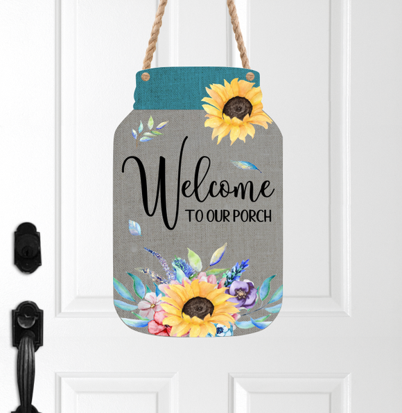 (Instant Print) Digital Download - Welcome to our porch - Mason jar