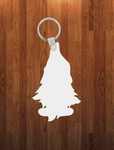 Gnome with feet Keychain - Single sided or double sided  -  Sublimation Blank