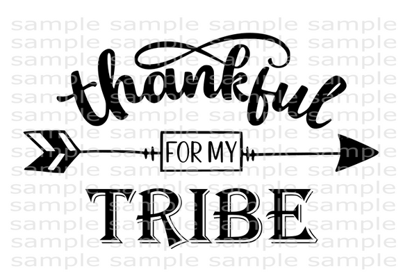 (Instant Print) Digital Download - Thankful for my tribe