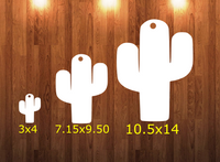 Cactus - Wall Hanger - 3 sizes to choose from -  Sublimation Blank  - 1 sided  or 2 sided options
