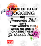 Sublimation print - I wanted to go jogging BUT... #668
