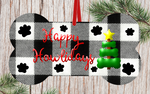 Sublimation print - Happy Howlidays bone - Made for our MDF sublimation blanks