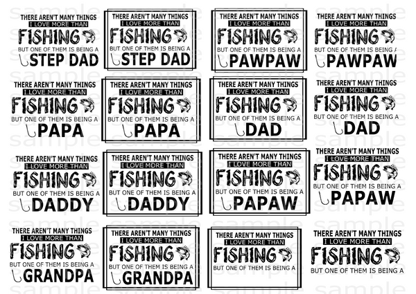 (Instant Print) Digital Download -  (BUNDLE 17PC ) There aren't many things I love more than fishing