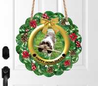 (Instant Print) Digital Download - Personalized your own wreath Happy Howlidays  , made for our  MDF blanks