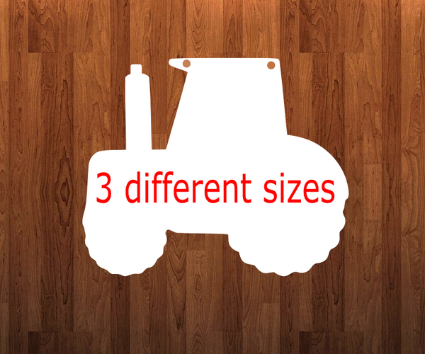 Tractor with holes - Wall Hanger - 3 sizes to choose from -  Sublimation Blank  - 1 sided  or 2 sided options