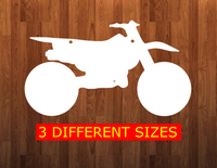 Dirt bike with holes - Wall Hanger - 3 sizes to choose from -  Sublimation Blank  - 1 sided  or 2 sided options