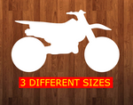 Dirt bike without holes - Wall Hanger - 3 sizes to choose from -  Sublimation Blank  - 1 sided  or 2 sided options