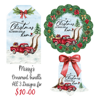 (Instant Print) Digital Download - At Christmas all road lead home  , made for our sublimation MDF blanks
