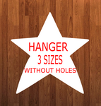 Star Without holes - Wall Hanger - 3 sizes to choose from -  Sublimation Blank  - 1 sided  or 2 sided options