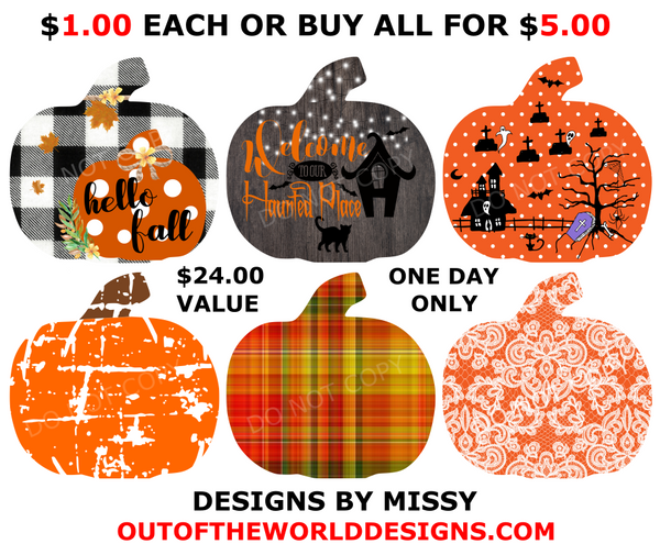 (Instant Print) Digital Download - 6pc Pumpkin bundle