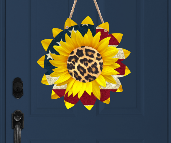 (Instant Print) Digital Download - Sunflower flag and cheetah
