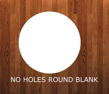 NO HOLES - 12.25 inch round - Sublimation MDF